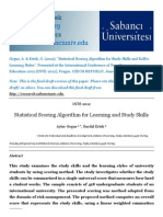 Statistical Scoring Algorithm for Learning and Study Skills