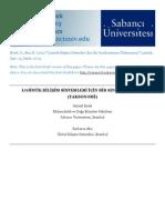 Lojistik Bilişim Sistemleri İçin Bir Sınıflandırma (Taksonomi)