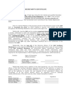 Board Resolution Or Corporate Secretaryu0027s Certificate With Representatives