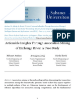 Actionable Insights Through Association Mining of Exchange Rates