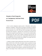 """Towards a Fresh Perspective on Contemporary American Poetry"" par  Richard Rand"