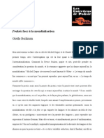 """""""Po&sie face à la mondialisation"""" par Gisèle Berkman"""