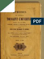 Toussaint L'Ouverture--Mémoires du Général Toussaint-L'Ouverture écrits par lui-même (1853)