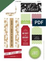 The Celebration Shoppe Christmas Gift Tags