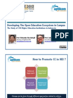 Developing the Open Education Ecosystem in Campus