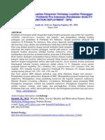 QFD Politeknik Pos Indonesia (oleh :Kanaidi, SE., M.Si)