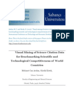 Visual Mining of Science Citation Data for Benchmarking Scientific and Technological Competitiveness of  World Countries