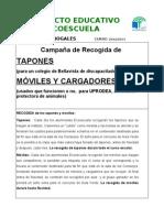campaña RECOGIDA DE MÓVILES Y TAPONES