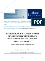 Benchmarking The Turkish Apparel Retail Industry Through Data Envelopment Analysis (Dea) And  Data Visualization