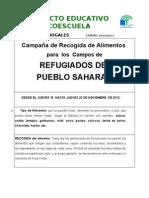 campaña alimentos sahara 2013