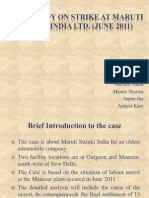 Case Study on Strike at Maruti Suzuki India