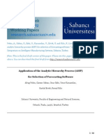 Application of the Analytic Hierarchy Process (AHP) for Selection of Forecasting Software