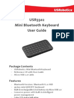 Mini Keyboard Bluetooth 5502 Ug