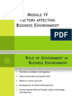 Factors Affecting Business Environment