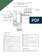 Simulasi Input/Output Port pada Mikrokontroler AT89C51 Menggunakan Bahasa C