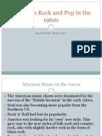 Pop Music in America - 1960's