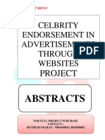 ABSTRACTS - CELBRITY ENDORSEMENT IN ADVERTISEMENTS THROUGH WEBSITES