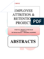 ABSTRACTS - EMPLOYEE ATTRITION AND RETENTION