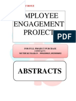 ABSTRACTS - EMPLOYEE ENGAGEMENT