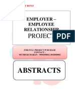 ABSTRACTS - EMPLOYER – EMPLOYEE RELATIONSHIP