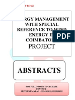 ABSTRACTS - ENERGY MANAGEMENT WITH SPECIAL REFERENCE TO WIND ENERGY IN COIMBATORE