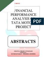 ABSTRACTS - FINANCIAL PERFORMANCE ANALYSIS OF TATA MOTORS.
