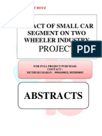 ABSTRACTS - IMPACT OF SMALL CAR SEGMENT ON TWO WHEELER INDUSTRY