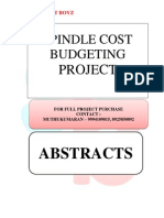 ABSTRACTS - SPINDLE COST BUDGETING