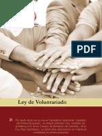 Cartilla Ley de Voluntariado110