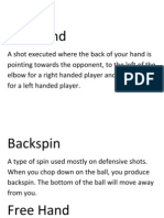 Table Tennis Terminology