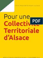 Pour Une Collectivite Territoriale d Alsace