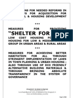 SHELTER FOR ALL, LAND REFORMS, URBAN HOUSING