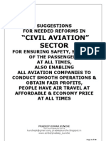 CIVIL AVIATION SECTOR REFORMS