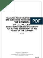 PARTIAL DE CONTROL OF OIL PRICING