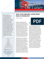 Turkey, Syrian Opposition, and the United States