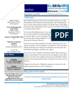 The Eliminate Project -USA 2 Newsletter- 11-19-12