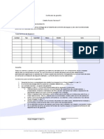 Carta de Garantia de Equipo de Aire Acondicionado
