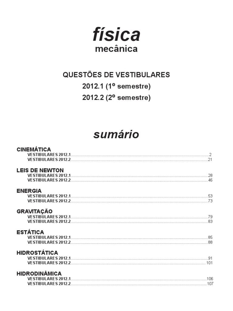 Física - mecânica questões de vestibular 2012 f3264b38636