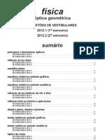Física - óptica geométrica questões de vestibular  2012