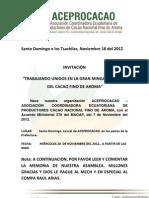 ACEPROCACAO INVITACIÒN 18 de Septiembre