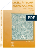 LATIM 1 - Livro - Janete Melasso Garcia - Introdução à Teoria e Prática do Latim, 2ª ed. (2000)