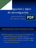Clasificacion de La Investigacion