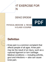 STRENGHT EXERCİSE FOR KNEE PAİN