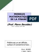 modele mathématique de la finance