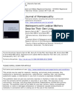 Adolescents With Lesbian Mothers Research Report accessed from the Williams Institute