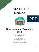 KNOX Nov Dec Newsletter 2012