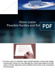 Home Loans - Possible Hurdles and Solutions