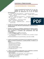 Ejercicos determinantes y pronombres para 2º y 32 eso