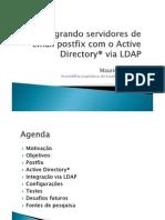Integrando servidores de email postfix com o Active Directory® via LDAP