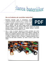 Reciclarea bateriilor